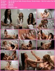 FootWorship.com [01.25.2013] Lexi Belle, Breanne Benson & Brandy Aniston - Wet Hot Lesbian Foot Worship Thumbnail